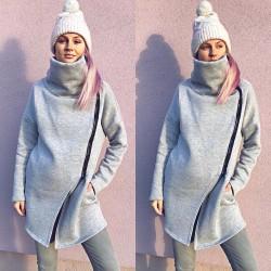 Těhotenský kabátek Dolce šedý