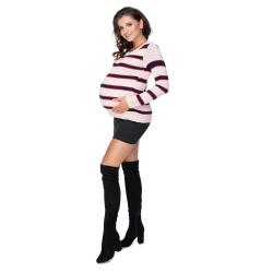 Těhotenský svetřík Babel proužek