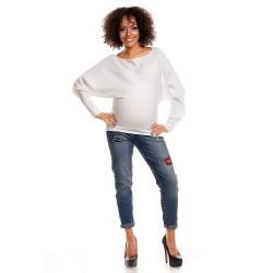 Těhotensky svetřík Lor bílá