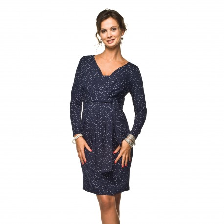 Těhotenské a kojící šaty Blufi tmavě modrá dlouhý