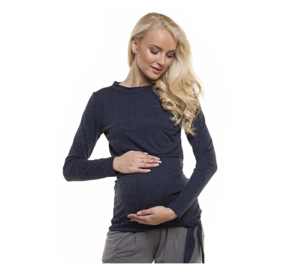 Těhotenská a kojící halenka Angorka tmavě modrá