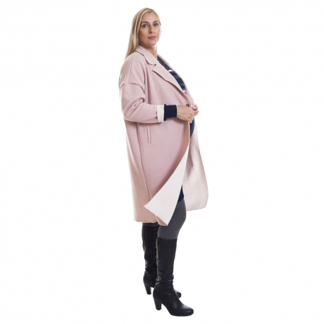 Těhotenský kabátek Mandez pastelová růžová