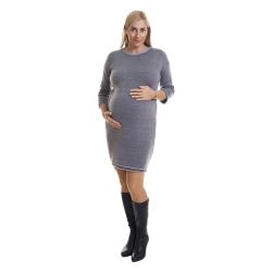 Zimní šaty BINKA 1804 černostříbrné s légou na zádech