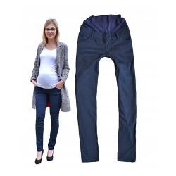 Těhotenské moderní kalhoty Celine modré