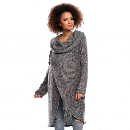 Těhotensky a kojící svetřík Jessie tmavě šedý