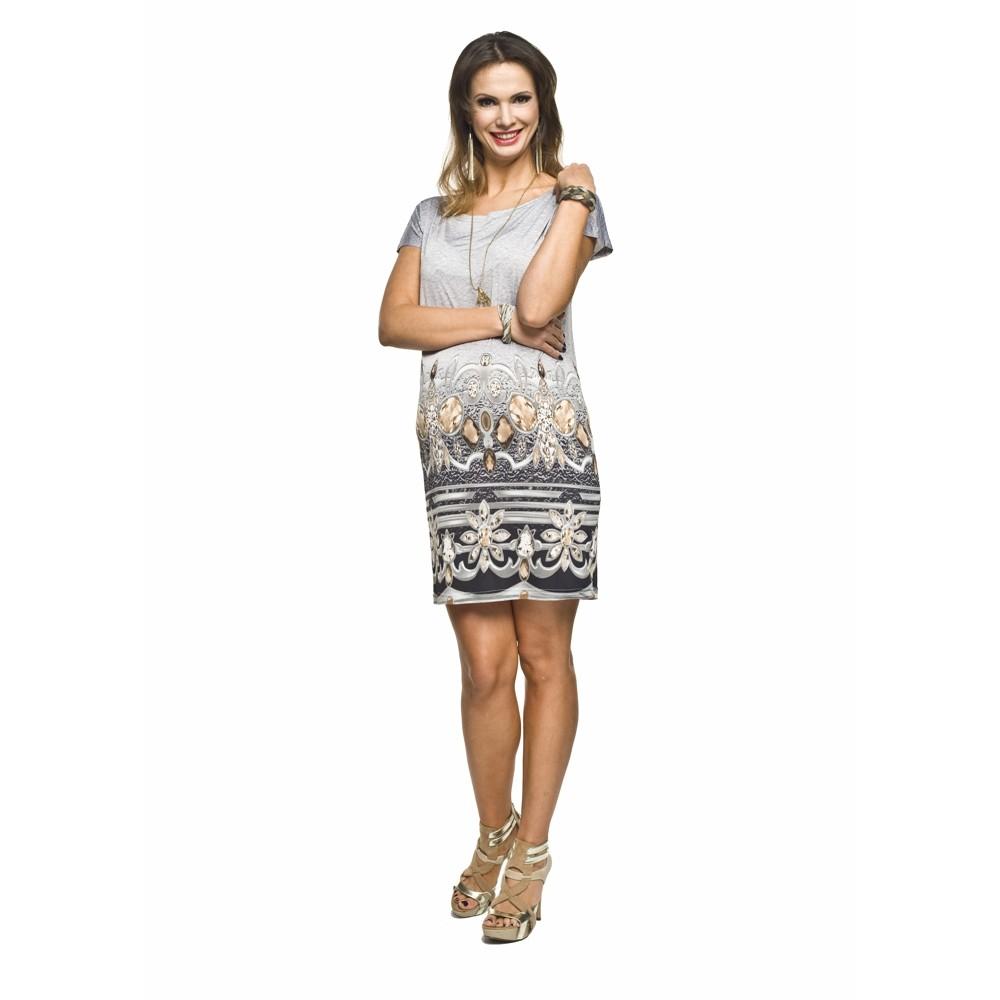 Těhotenské šaty Lara šedá