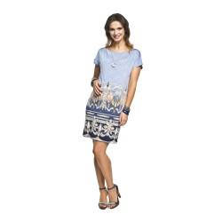 Těhotenské šaty Lara modrá