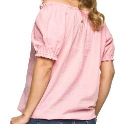 Těhotenská košile Boho růžová