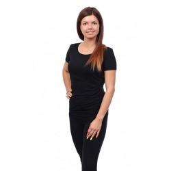 Těhotenské a kojící tričko Stella černá