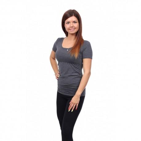 Těhotenské a kojící tričko Stella grafit