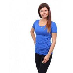 Těhotenské a kojící tričko Stella modrá