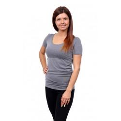 Těhotenské a kojící tričko Stella světle šedá