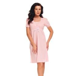 Těhotenská noční košilka Adel světle růžová