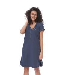 Těhotenská noční košilka Tereza pro kojení modrá