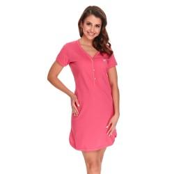 Těhotenská noční košilka Tereza pro kojení růžová