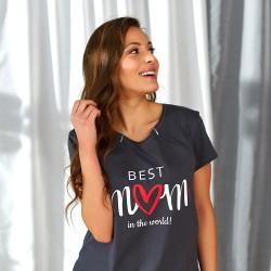 Těhotenská noční košilka Iris pro kojení grafit