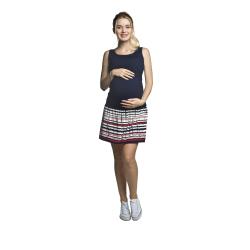 Letní těhotenské a kojící šaty ELMA tmavě modrá s pruhy