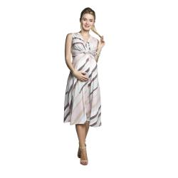 Letní těhotenské a kojící šaty SHEJLA  s pastelovými pruhy
