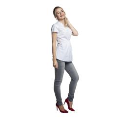 Těhotenská a kojící košile MELBA krátký rukáv bílá