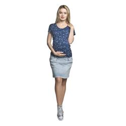 Těhotenská riflová sukně SANDY světle modrá jeans