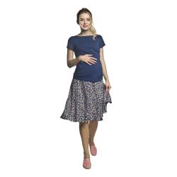 Těhotenská kolová sukně TIBI meruňkové kvítky