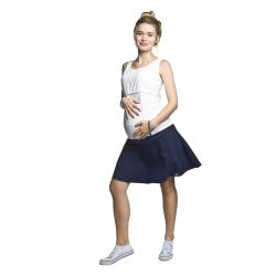 Těhotenská kolová minisukně Nife tmavě modrá