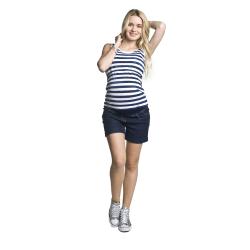 Těhotenské riflové šortky LUPO tmavě modrá