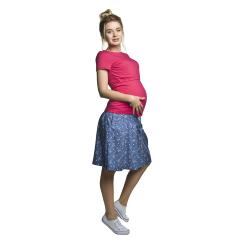 Těhotenská a kojící halenka Comfy KR amarantová