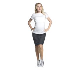 Těhotenská a kojící halenka Comfy KR bílá