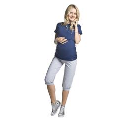 Těhotenská a kojící halenka Comfy KR tmavě modrá
