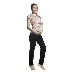 Těhotenská a kojící halenka Gaja světle růžová se srdíčky