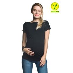 Těhotenská halenka Basic krátký rukáv černá