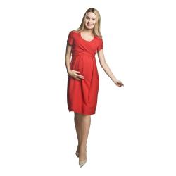 Letní těhotenské a kojící šaty Lavinia červené