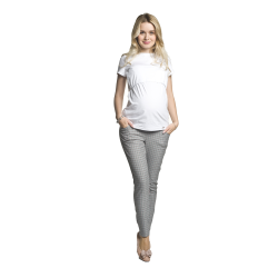 Společenské těhotenské kalhoty Malory šedé