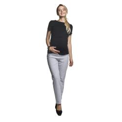 Těhotenské tepláky Fitness Slim světle šedé