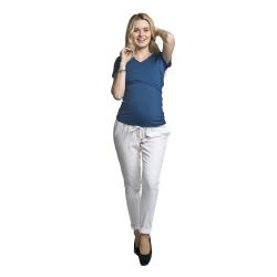 Těhotenské kalhoty Lanti bílé
