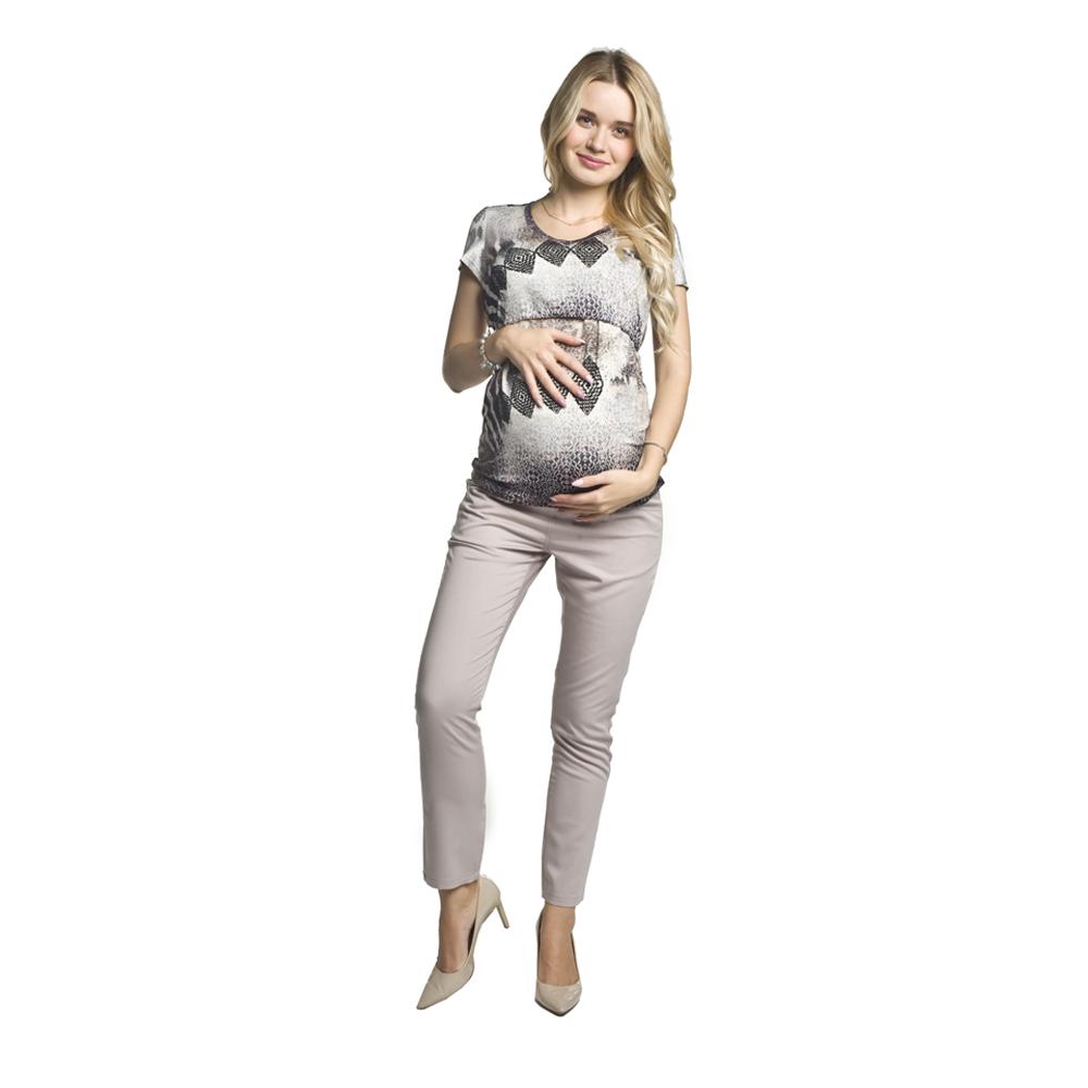 Těhotenské kalhoty Corte béžová