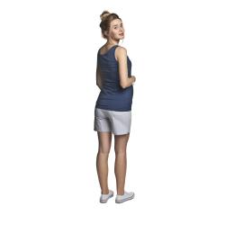 Těhotenské fitness šortky světle šedá