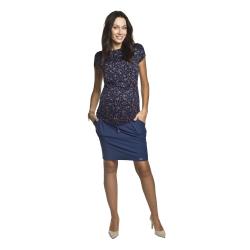 Letní těhotenská sukně Swing tmavě modrá
