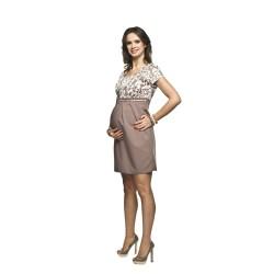 Těhotenské a kojící šaty Ronja béžová