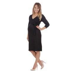 Těhotenské a kojící šaty BLANKA černá