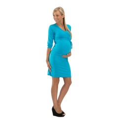 Těhotenské a kojící šaty BLANKA tyrkysová
