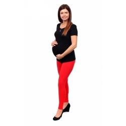 Těhotenské leginy Getry II. červená