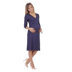 Těhotenské a kojící šaty BLANKA tmavě modrá