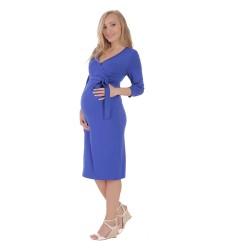 Těhotenské a kojící šaty BLANKA  modrá
