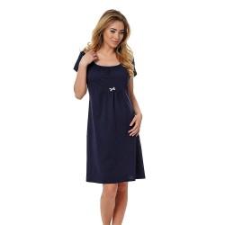 Těhotenská kojící košilka Dagna tmavě modrá