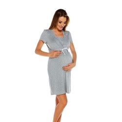 Těhotenská noční košilka Radost světle šedá