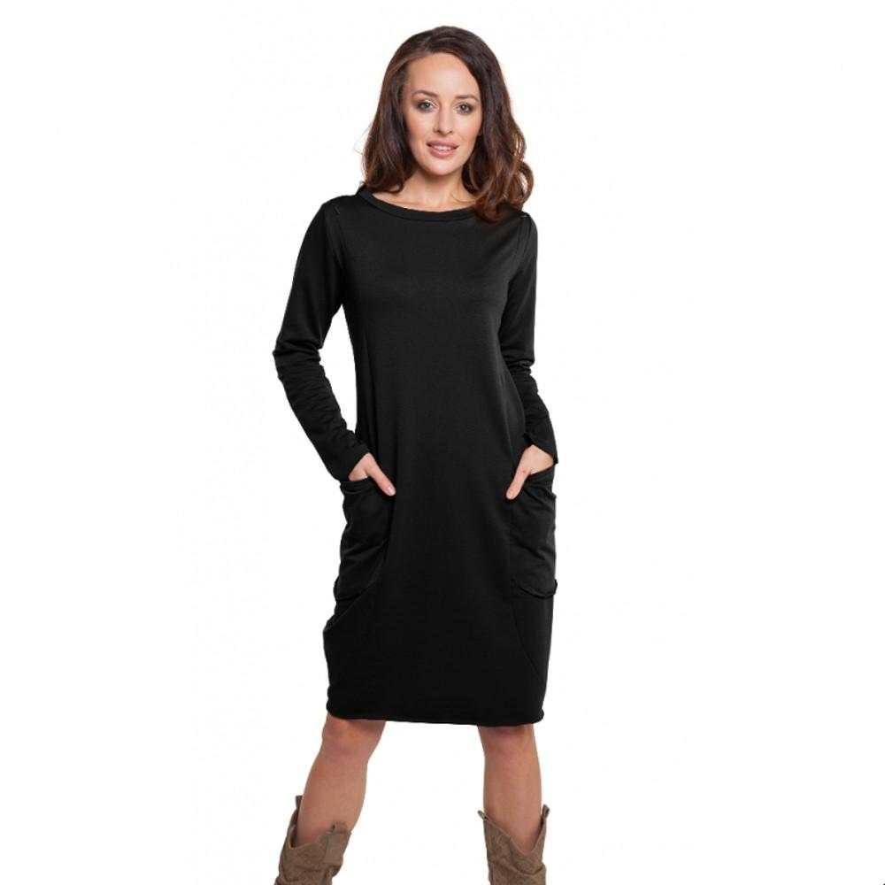Těhotenské a kojící šaty Oversize černá