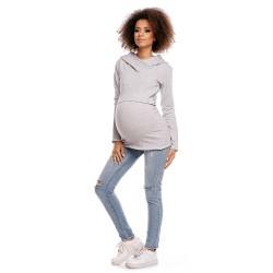 Těhotenská a kojící tunika  Jamal světle šedá