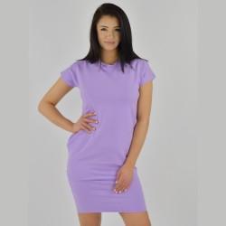 Letní úpletové šaty Tuba lila